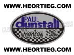 Paul Dunstall Norton 750 Tank and Fairing Transfer Decal DDUN8-4